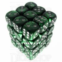 Würfelzeit Silkki Satin Green & Silver 36 X D6 Dice Set
