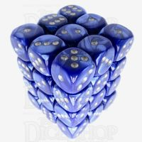 Würfelzeit Silkki Satin Blue & Silver 36 X D6 Dice Set