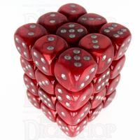 Würfelzeit Silkki Satin Red & Silver 36 X D6 Dice Set