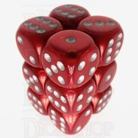 Würfelzeit Silkki Satin Red & Silver 12 X D6 Dice Set