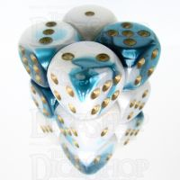 Würfelzeit Alyen Vision Ice & Blue 12 x D6 Dice Set