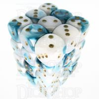 Würfelzeit Alyen Vision Ice & Blue 36 x D6 Dice Set