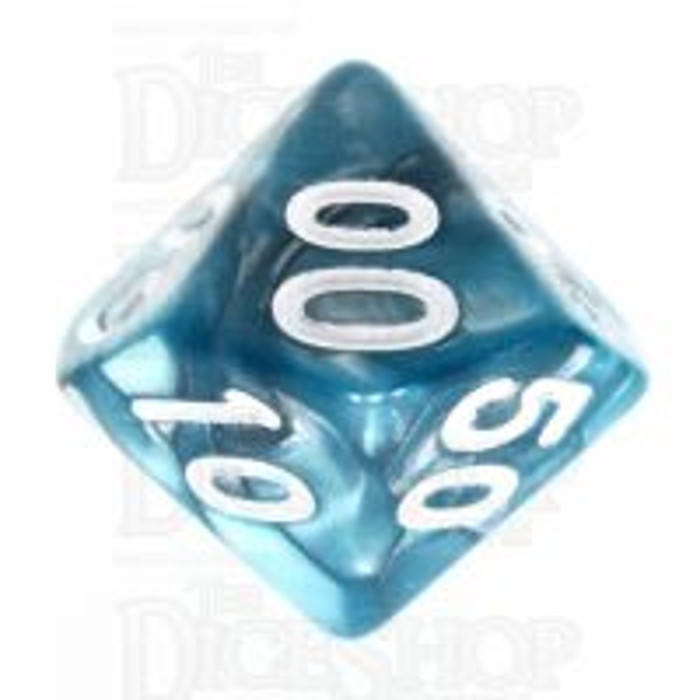 TDSO Duel Steel & Teal Percentile Dice