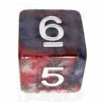 TDSO Marbleised Red Green & Blue D6 Dice