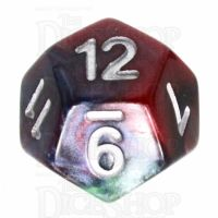 TDSO Marbleised Red Green & Blue D12 Dice