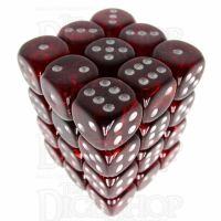Würfelzeit Cosmoo Wine Red 36 x D6 Dice Set