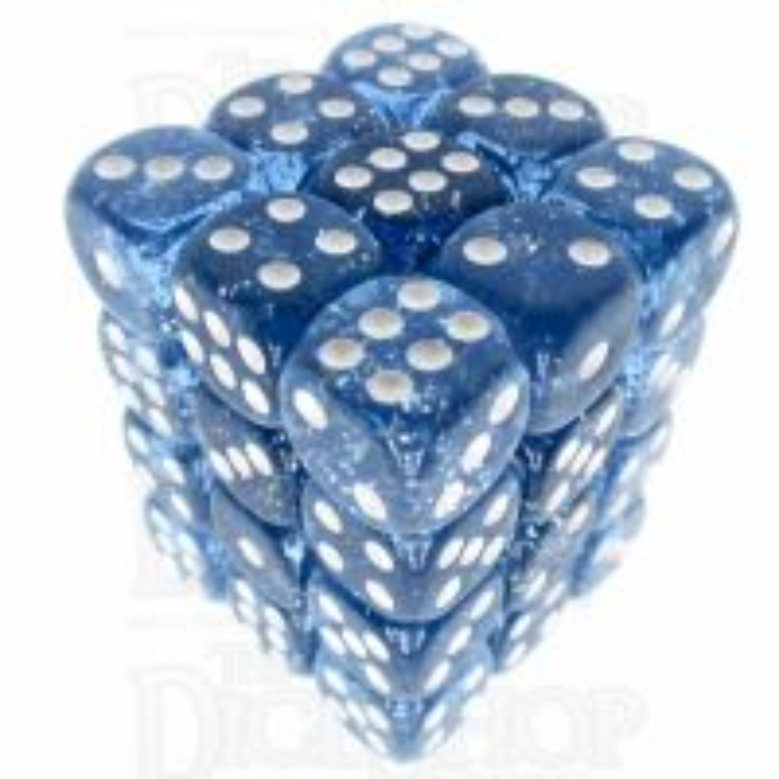 TDSO Glitter Blue 36 x D6 Dice Set