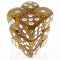 TDSO Glitter Yellow 12 x D6 Dice Set