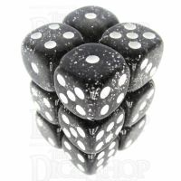 TDSO Glitter Black 12 x D6 Dice Set