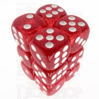 TDSO Glitter Red 12 x D6 Dice Set