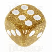 TDSO Glitter Yellow 16mm D6 Spot Dice