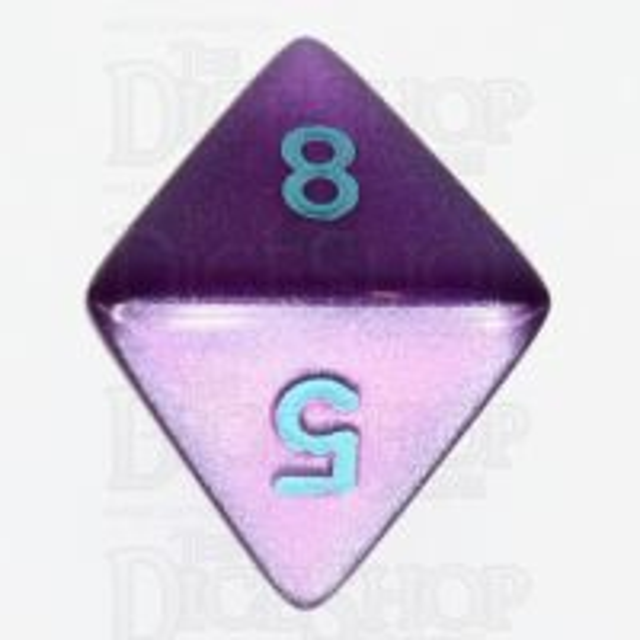 Würfelzeit Silkki Satin Purple & Turquoise D8 Dice LAST ONE