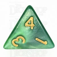 TDSO Duel Dark Green & Pearl Light Green D4 Dice
