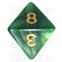 TDSO Duel Dark Green & Pearl Light Green D8 Dice
