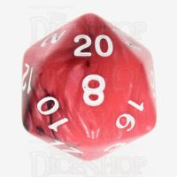 TDSO Duel Black & Red With White D20 Dice