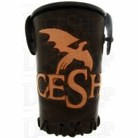 QD TheDiceShopOnline Brown Leather Dice Cup
