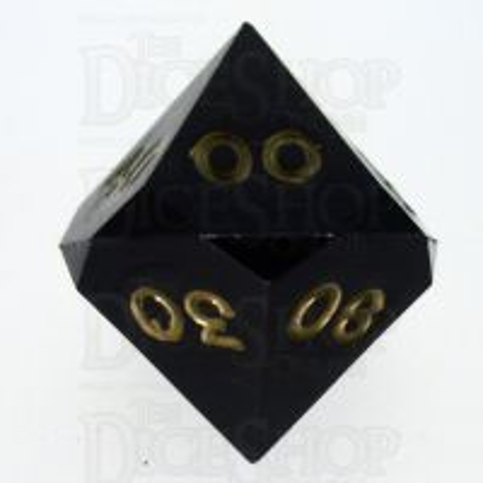 GameScience Opaque Coal Black & Gold Ink Percentile Dice