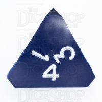 GameScience Opaque Navy & White Ink D4 Dice
