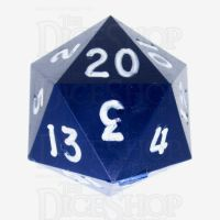 GameScience Opaque Navy & White Ink D20 Dice