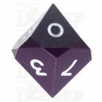 GameScience Opaque Purple & White Ink D10 Dice
