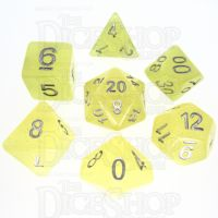 TDSO Translucent Glitter Yellow 7 Dice Polyset