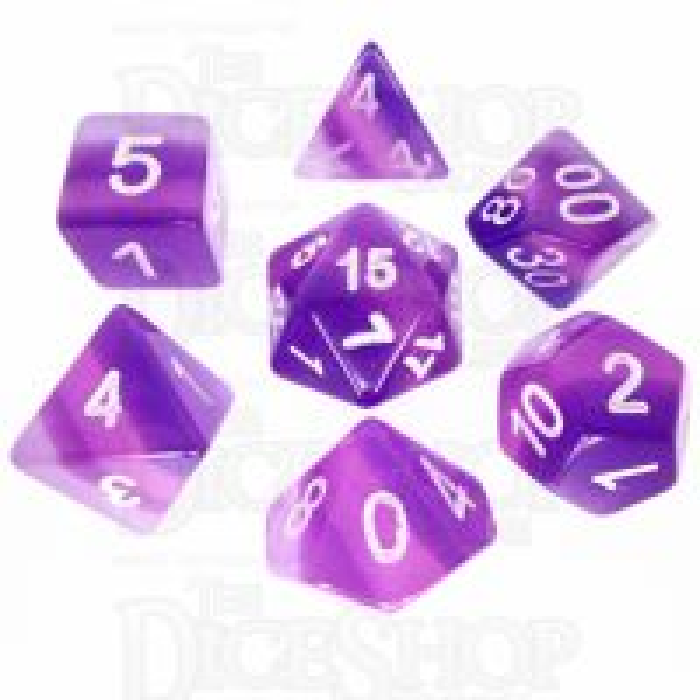 TDSO Layer Transparent Purple 7 Dice Polyset