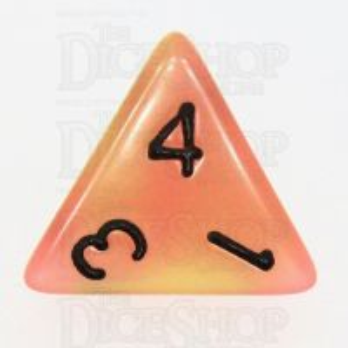 TDSO Duel Yellow & Orange Glow in the Dark D4 Dice