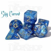 Halfsies Pearl Sky Current Wind & Sky Blue 7 Dice Polyset