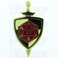 D20 Hard Enamel Pin Badge : The Defender