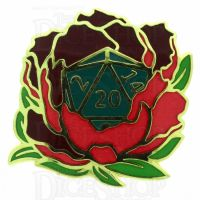 D20 Hard Enamel Pin Badge : Wild Roller B