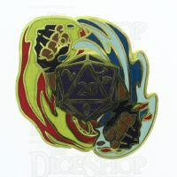 D20 Hard Enamel Pin Badge : Flurry of Fists