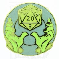 D20 Hard Enamel Pin Badge : Divine Intervention
