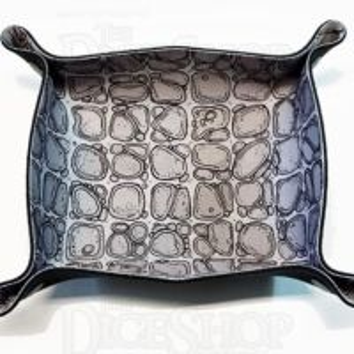 Folding Dice Tray - Flagstone - Grey