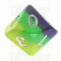 TDSO Layer Blue Green & Yellow Glitter D10 Dice