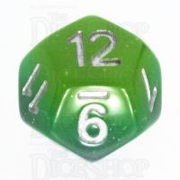 TDSO Layer Blue Green & Yellow Glitter D12 Dice