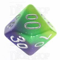 TDSO Layer Blue Green & Yellow Glitter Percentile Dice
