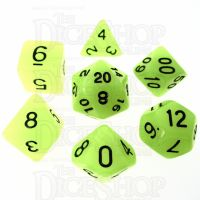TDSO Glow in the Dark Gamma 7 Dice Polyset LIMITED EDITION