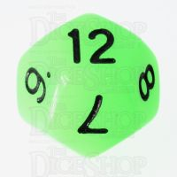 TDSO Glow in the Dark Ectoplasm D12 Dice LIMITED EDITION