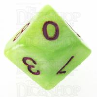 TDSO Marbleised Green Yellow & White D10 Dice