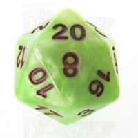 TDSO Marbleised Green Yellow & White D20 Dice