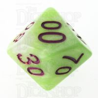 TDSO Marbleised Green Yellow & White Percentile Dice