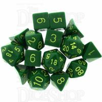 Role 4 Initiative Opaque Green & Gold 15 Dice Polyset