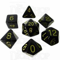 Role 4 Initiative Opaque Black & Gold 7 Dice Polyset