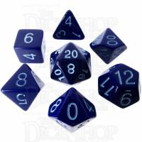 Role 4 Initiative Opaque Blue & Blue 7 Dice Polyset
