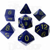 Role 4 Initiative Opaque Blue & Gold 7 Dice Polyset