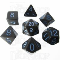 Role 4 Initiative Opaque Grey & Blue 7 Dice Polyset
