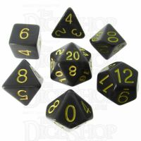 Role 4 Initiative Opaque Grey & Gold 7 Dice Polyset