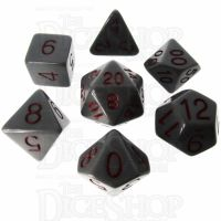 Role 4 Initiative Opaque Grey & Red 7 Dice Polyset