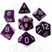 Role 4 Initiative Opaque Purple & White 7 Dice Polyset