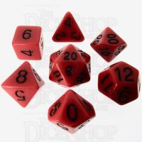 Role 4 Initiative Opaque Red & Black 7 Dice Polyset